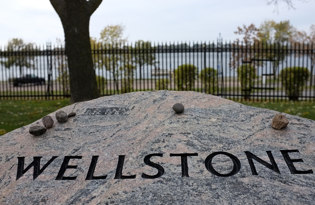 Wellstone grave. October 25, 2013