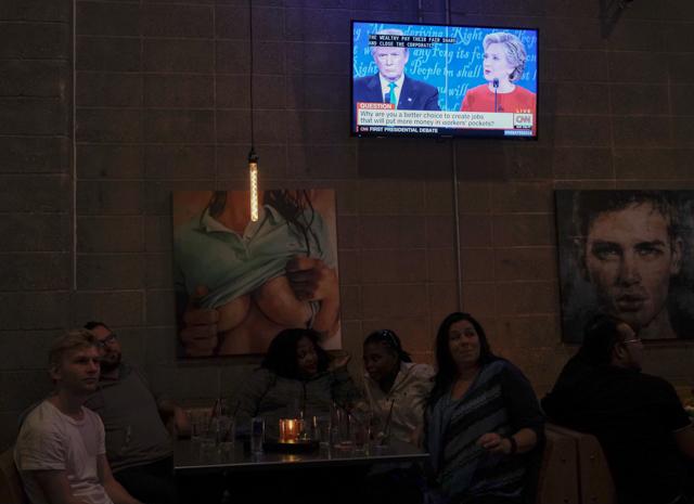 Trump Clinton Debate watch at Lush.