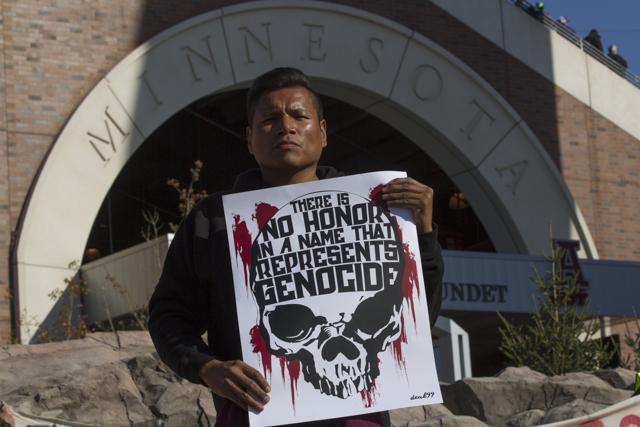 Protest against the Redskins TCF Stadium